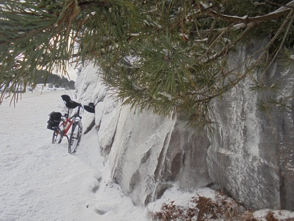 ice walls with bike